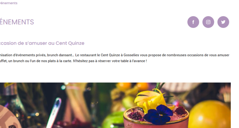 Cent quinze : restaurant-brasserie à Gosselies