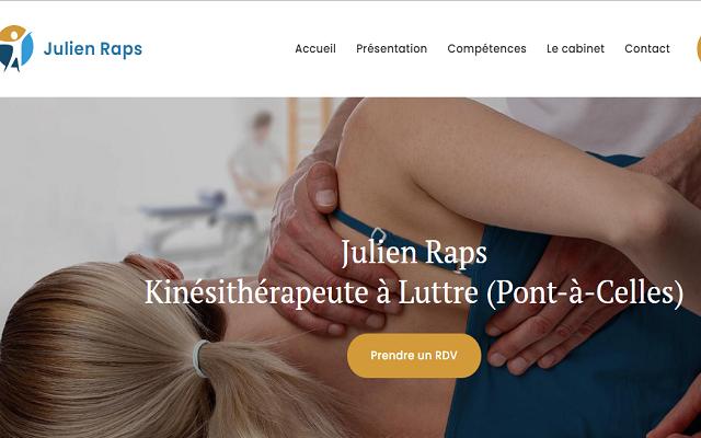 Julien Raps, kinésithérapeute à Luttre (Pont-à-Celles)