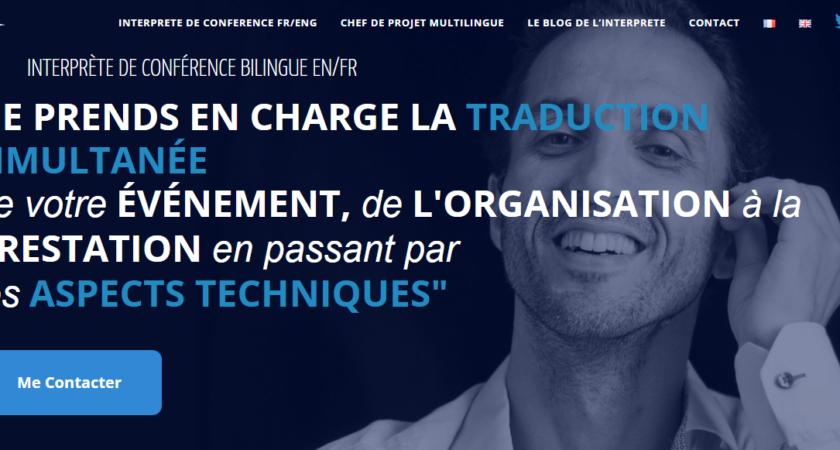 Cyril Belange, interprète de conférence bilingue