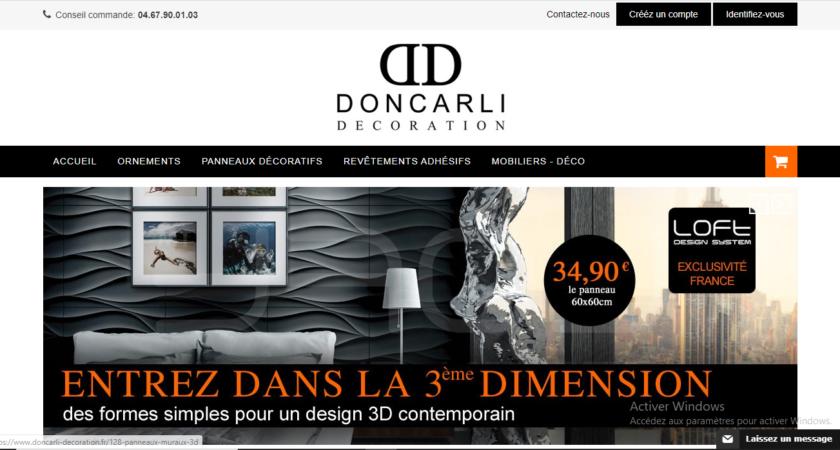 Doncarli Décoration et ses corniches pour plafond