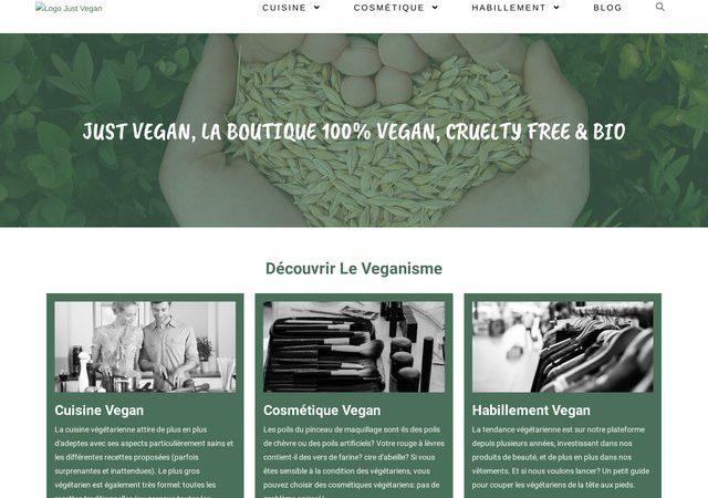 Just Vegan, le fournisseur des meilleurs produits Vegan